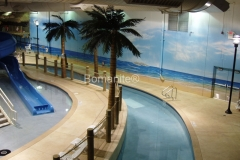 Bulach Custom Rock expertly installed this stunning concrete pool deck and pool coping using the Bomanite Bomacron Imprint System, adding a beautiful balance of texture and color that provides a beach side feel for patrons of the Grand Rios Waterpark.