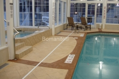 Bomanite Imprint Systems with Bomacron Textured Pattern Imprinted Concrete at Grant Park Tower.