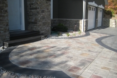 Bomanite Imprint Systems with Bomacron Textured Pattern Imprinted Concrete at a private residence.