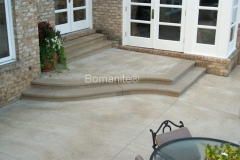 Bomanite Imprint Systems with Bomacron Textured Pattern Imprinted Concrete on a patio deck at a private residence.