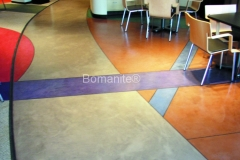 Bomanite Toppings Systems using MIcro-Top at Citizens Corporate.