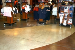 Bomanite Toppings Systems using MIcro-Top at a Retail Store.